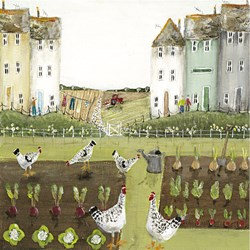 Hen Party (Paper) by Rebecca Lardner - Limited Edition on Paper sized 12x12 inches. Available from Whitewall Galleries